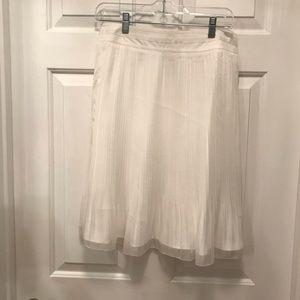 White Overlay Skirt